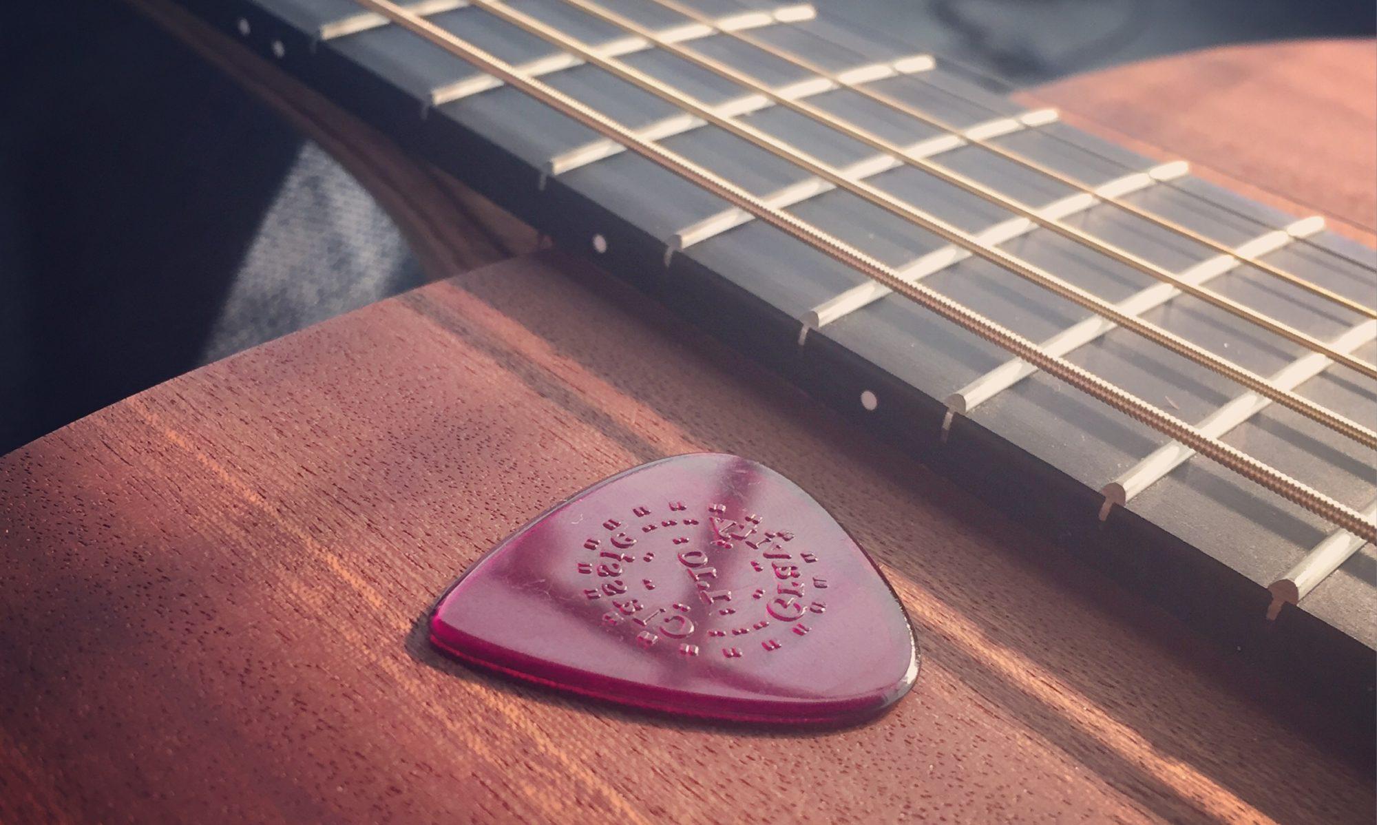 guitar and plectrum