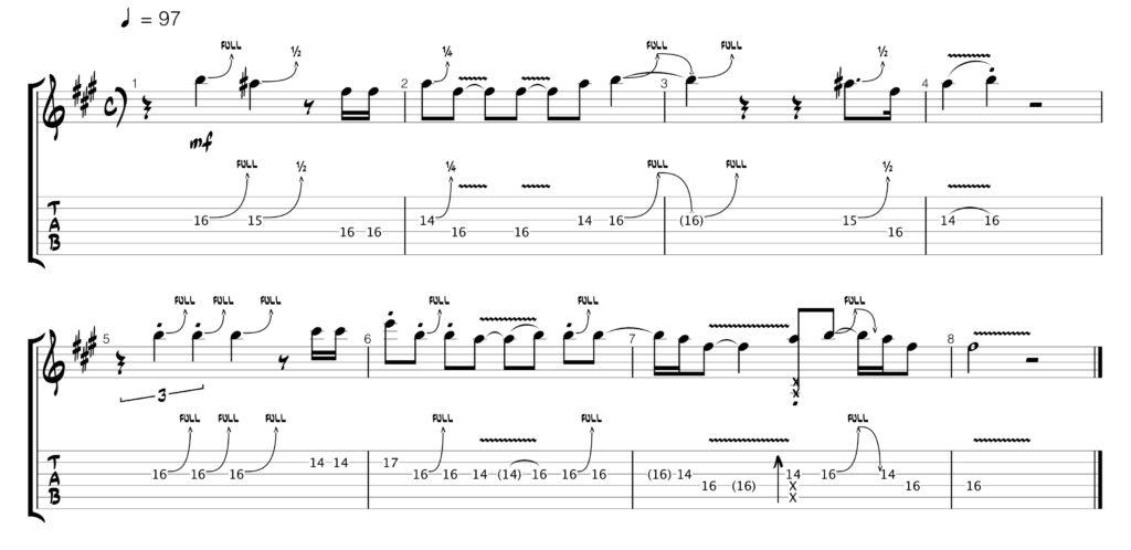 John Mayer, Vultures guitar solo tab
