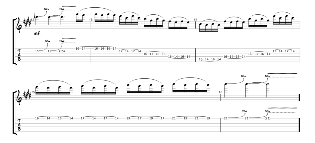 Thin Lizzy - Waiting For An Alibi Gtr 2 Solo Tab